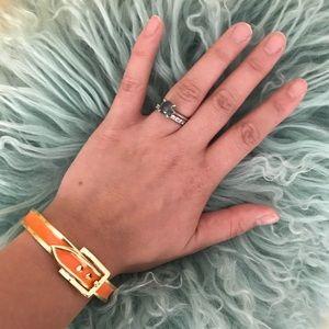 Orange buckle bangle